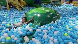 Vattanak Playing at Indoor Playground at Kidzoona