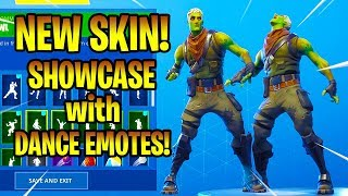 *NEW* BRAINIAC SKIN SHOWCASE WITH DANCE EMOTES! Fortnite Battle Royale