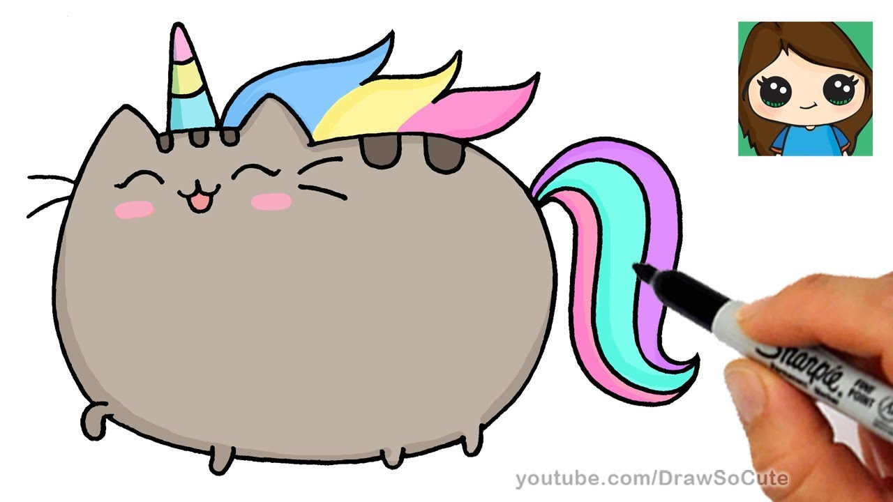 Anime Girl With A Fox Pet Wallpaper How To Draw Pusheen Unicorn Easy Youtube