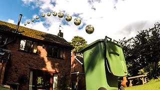 Football/Soccer Trick Shot Over House! - My BEST Bin Shot Yet! | Footballskills98