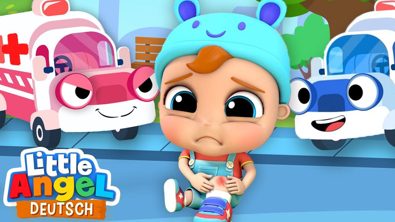 Download Aua! Ich brauche einen Krankenwagen   Zeichentrick   Little Angel Deutsch - Kinderlieder