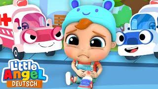 Aua! Ich brauche einen Krankenwagen   Zeichentrick für Kinder   Little Angel Deutsch