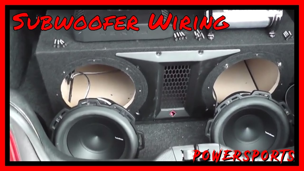 Subwoofer Wiring Tutorial - Rockford Fosgate P2-2X10 - Rockford RFC1 on