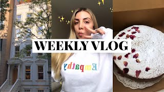 NYC week in my life ☆ skincare for acne, starting a podcast, & vegan cooking