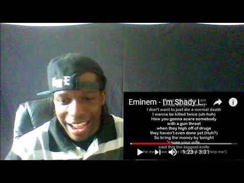 Eminem  Im Shady Lyrics HD Reaction!!