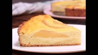Творожный пирог с грушей | Рецепт заливного грушевого пирога
