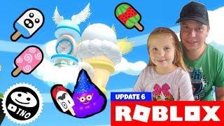 NEW ICE CREAM and PET ☁️ Sky Land ICE CREAM SIMULATOR 🍦   Roblox   Daddy and Barunka CZ/SK