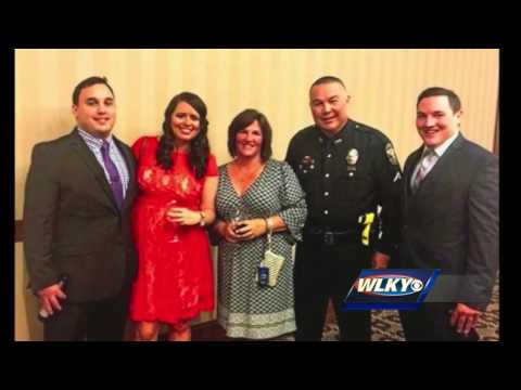 Family friends and LMPD officers attend funeral for one of their own