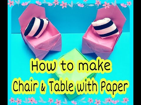 How to make Chair and Table with paper DIY