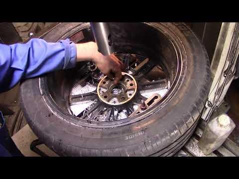 Расточка колёсных дисков с резиной