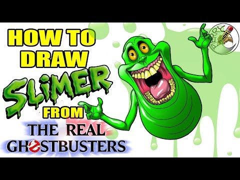 How To Draw Slimer From The Real Ghostbusters Step By Step Easy