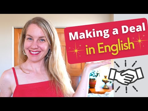 Making a Deal in English | How to Bargain | How to Negotiate | Intermediate ESL Lesson