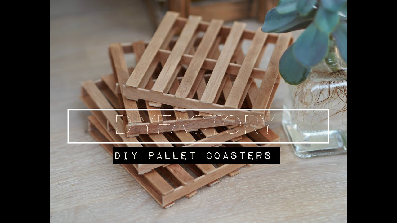 DIY miniature pallet coaster - YouTube