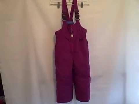 #79SS LandsEnd Girls 4 Snow Ski Cold Weather Suit Bib Pants Overalls