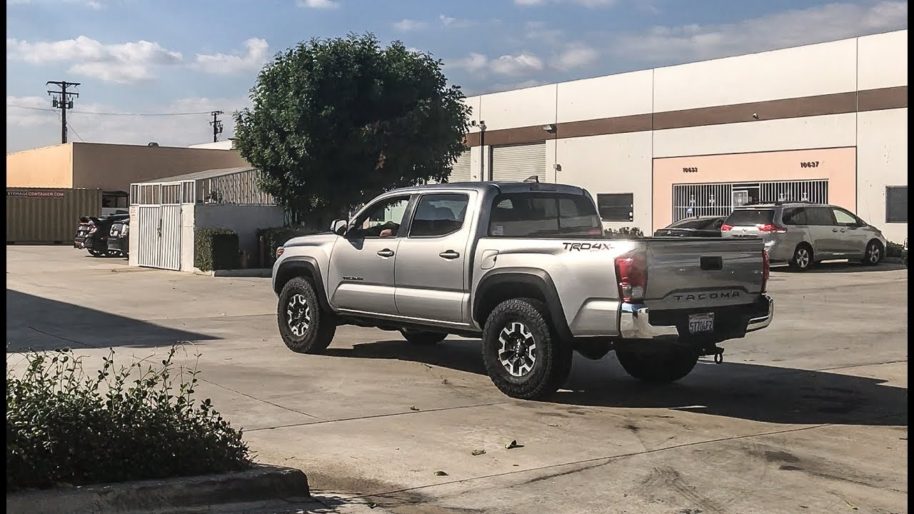 285 75 16 33 Tires On A Stock Toyota Tacoma Youtube White 2004 Sequoia Off Road