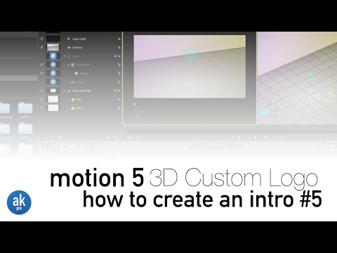How to Create a 3D Custom Logo using your own Image in Motion 5