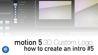 How to Create a 3D Custom Logo using your own Image in Motion 5(Project File: http://bit.ly/akpro-downloads JQualk YouTube: http://bit.ly/jqualk-youtube On this video by AkProFilms, I will show you how to create a 3D custom ..., 2015-06-11T22:13:14.000Z)