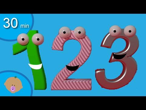 Lär siffror och räkna för småbarn - Min första numret bok och flera bilderböcker för barn