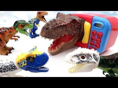 Dinosaur Surprise Microwave Toys! Dinosaur Heads Transformer Big Head For Kids