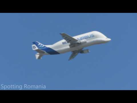 Airbus Beluga nr 5 - Departure from OTP / Bucharest Airports /