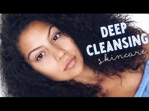 DEEP Cleansing Natural Skincare Routine | Steaming & Oils