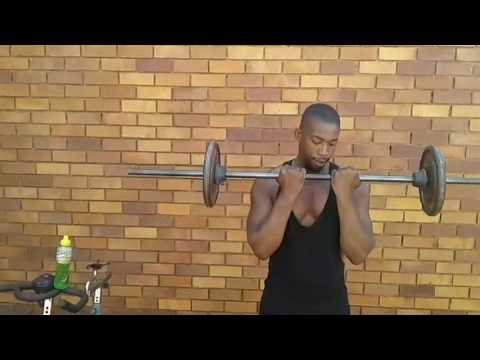 Sponchmakhekhe kicks off his day at his home gym 3 youtube