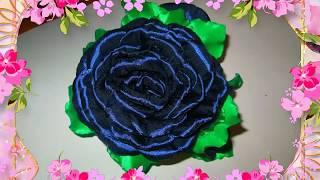 Урок для начинающих,роза из атласной ленты Канзаши