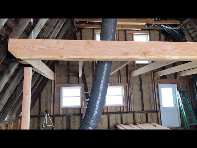 Historic Guest Barn Renovation - Episode 16 Starting the Open Beam Loft