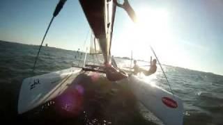Nacra F18 Catamaran pitchpole 10/24/11