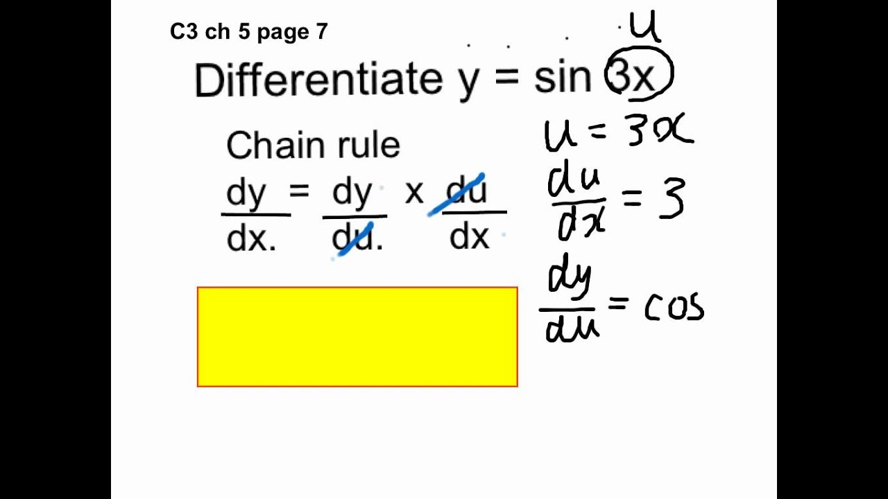 C3 ch5 How to differentiate sin 3x - YouTube