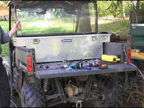 Installing A Toolbox In The Bed Of A Polaris Ranger Youtube