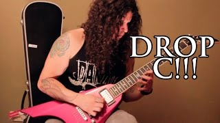 melodic guitar solo april 2015 - improvising on a drop c track!!!