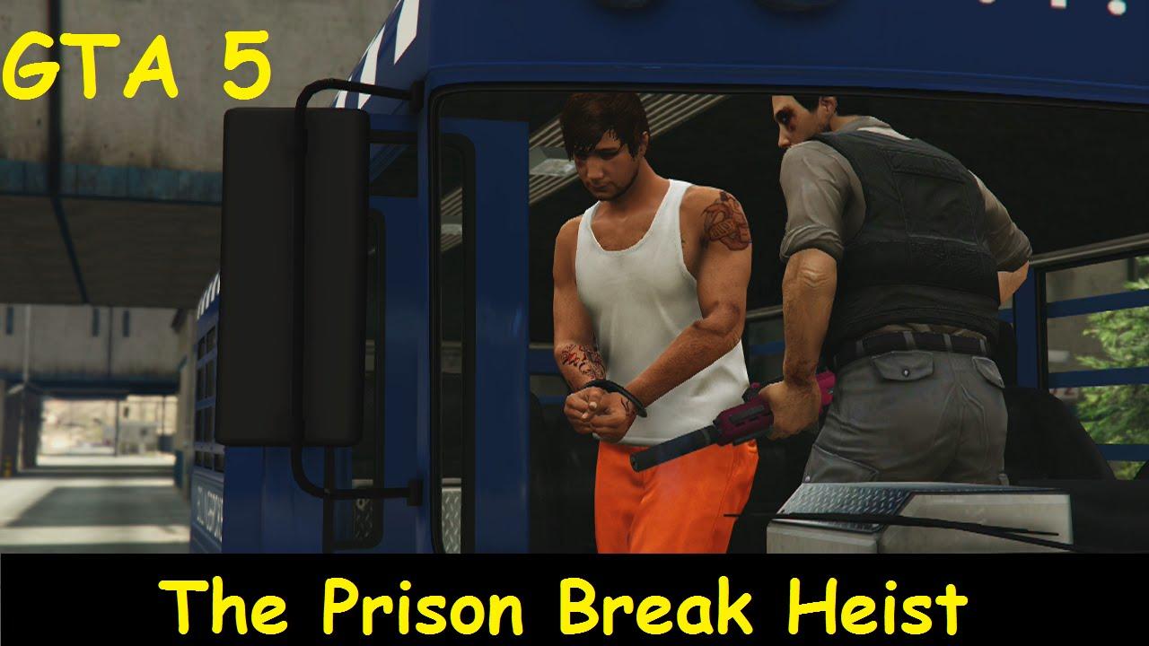 Gta 5 Online Heist The Prison Break Heist Prisoner Role Youtube