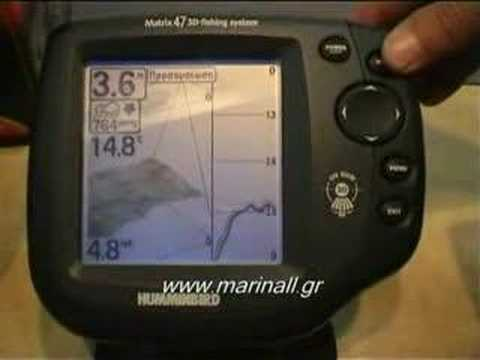 fishfinder matrix 47 3d - gps ready humminbird - youtube, Fish Finder