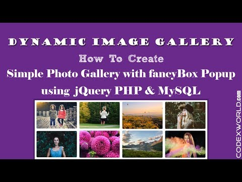 Create Dynamic Image Gallery with Database using jQuery, PHP & MySQL thumbnail