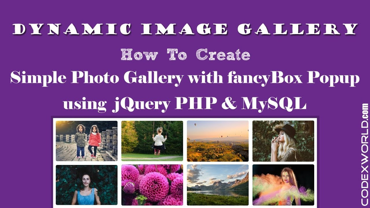 Create Dynamic Image Gallery with Database using jQuery, PHP