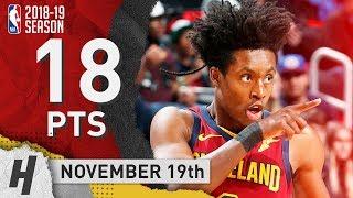 Collin Sexton Full Highlights Cavaliers vs Pistons 2018.11.19 - 18 Points!