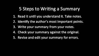 How to Write an Effective Academic Summary Paragraph
