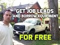 Get Job leads and Borrow Equipment for Free