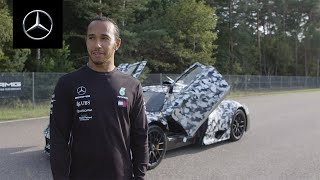 Lewis Hamilton in the Mercedes-AMG Project ONE