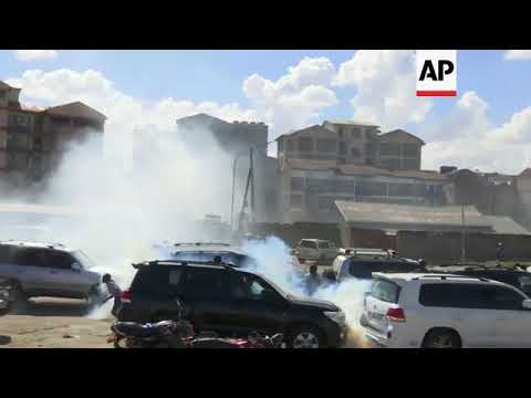 Kenya opposition leader teargassed during rally