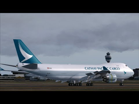 Cathay Pacific Cargo B744ERF Landing & Arrival on the Polderbaan @ (AMS) Amsterdam