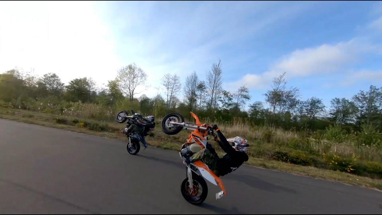 KTM EXC 500 Supermoto | DRZ 440 SM | Wheelie Motivation | Drohne