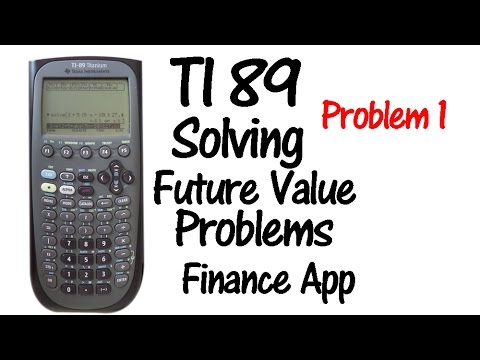 TI-89 Future Value with Compounding - Problem 1