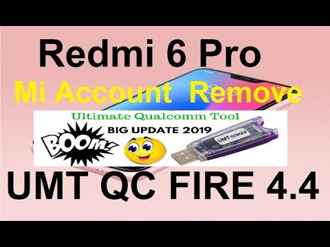 Redmi 6 Pro Mi Account By Umt 100% Remove With Authorize Login