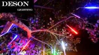 led meteor rain light christmas lights for outdoor garden tree streep decoration