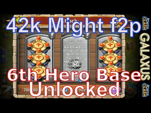 |:|free-to-play#22|:| 42k Might & 6th Hero Base In 2 Days!!!/Preparing For Evolution (Castle Clash)