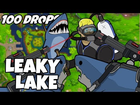 I Dropped Leaky Lake 100 Times And This Is What Happened (Fortnite)
