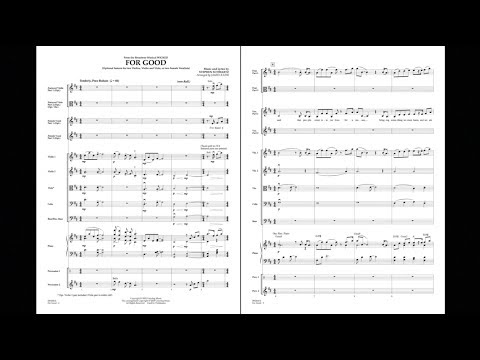 For Good (Duet Feature from Wicked) by Stephen Schwartz/arr. James Kazik