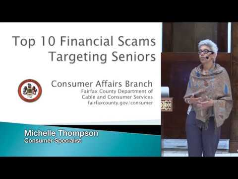 Top 10 Financial Scams Targeting Seniors. Michelle Thompson 3/8/2018